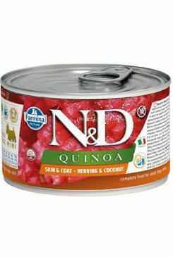 N&D DOG QUINOA Herring & Coconut Mini 140g