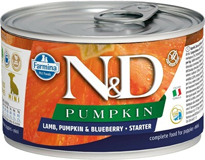 N&D DOG PUMPKIN Starter Lamb & Blueberry Mini 140g