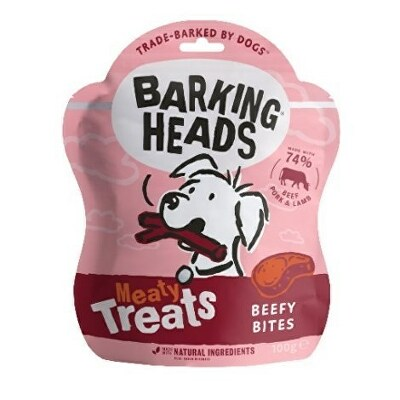 BARKING HEADS Meaty Treats Beefy Bites 100g