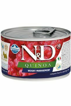 N&D DOG QUINOA Weight Mnmgmt Lamb & Brocolli Mini 140g