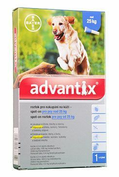 Advantix Spot On 1x4ml pro psy nad 25kg (1 pipeta)