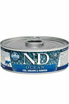 N&D GF CAT OCEAN Adult Codfish & Shrimps &Pumpkin 80g