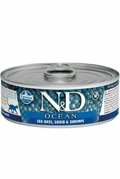 N&D GF CAT OCEAN Adult Sea Bass & Squid & Shrimps 80g